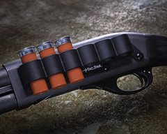 Sidesaddle on a Remington 870 (ZackBrescia) Tags: gun guns shot shotgun bullet product strobe weapon studio tabletop