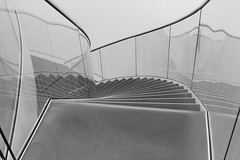 freestyle curves...... (ohank1951) Tags: curve curves line lines freestyle bw blackandwhite monochrome noiretblanc black white geometrie geometry composition abstract zweven floating minimal stairs stair glass reflection shadows design interior architecture architectuur indoor domesticarchitecture zwolle museum fundatie museumdefundatie architecthubertjanhenket hubertjanhenket biermanhenketarchitecten biermanhenket netherlands nederland canoneos1100d ef24105mmf4lisusm