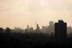 Solitary Walk - I (photosam) Tags: london england unitedkingdom fujifilm xe1 fujifilmx raw lightroom xc50230mm14567ois xc50230mmf4567ois newcross telegraphhill southlondon dusk telephoto highrise skyline evening