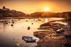 Golden Sunset (Ro Cafe) Tags: sunset landscape seascape boats sun sky castle nikkor2470f28 nikond600