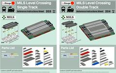 MILS Level/Grade Crossing Instructions (michaelgale) Tags: lego moc trains mils instructions level grade crossing roads module