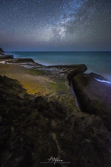 Snake Beach (arq.alextoro) Tags: cabodelavela colombia fotografianocturna guajira landscape largaexposicion longexposure mar milkyway nightphotography nocturnas paisajes sea stars vialactea moss musgo starscape