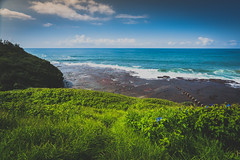 Coledale () Tags: grass holidays beach ocean australia color sky coledale pacific sea newsouthwales pacificocean