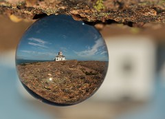 Cape Spear Lighthouse (Karen_Chappell) Tags: ball round circle orb sphere glass lighthouse refraction capespear newfoundland nfld avalonpeninsula canada