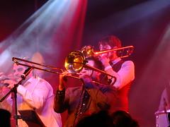 Old Dirty Brasstards (failing_angel) Tags: 311015 london camden kingscross scala halloween whitemischief cabaret burlesque music gig heaven hell olddirtybrasstards drum brass