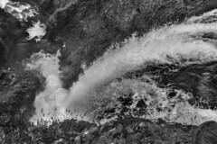 Self portrait (martin palmqvist (ALBUMS)) Tags: iceland waterfall wideangle 24mm highspeed capture foot portrait blackandwhite monochrome