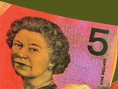 Queen (Dennisbon) Tags: dennisbon canon eos 7d melbourne australia note currency queen dollars new colors five 5 elizabeth ii