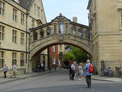 """Bridge of Sighs""(Hertford Bridge), Oxford, Sep 2016 (allanmaciver) Tags: bridge sighs oxford university england venice hertford college honey colour class architecture people study watch wait allanmaciver"