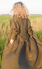 windy..... (betrenchcoated) Tags: trenchcoat cape windy blowing beautifulgirl raincoat regenmantel regencape