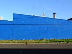 * (frontdrive34) Tags: blue wall vent factory warehouse sawtooth mortdale besserblock