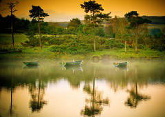 Three (PeterYoung1) Tags: autumn trees reflections landscape boats scotland scenic atmospheric kilmalcolm knappsloch flickrstruereflection1 flickrstruereflection2 flickrstruereflection3 flickrstruereflection4 flickrstruereflectionlevel1 flickrstruereflectionlevel4