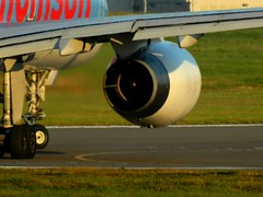 Thomson 757 (ray_finkle) Tags: atc airport birmingham aircraft aviation air international thomson planes boeing airports airlines 757 birminghamuk departing taxiing bhx egbb