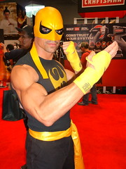 P1080685 (Randsom) Tags: nyc newyork halloween muscles costume mask cosplay handsome kungfu superhero marvel spandex marvelcomics avengers comicconvention 2012 hotguy javitscenter ironfist nycomiccon newyorkcomiccon