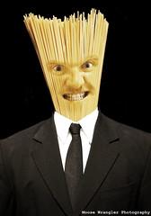 """Self Pasta"" (Moose Wrangler) Tags: portrait selfportrait composite canon surreal 5d imagemanipulation photo5 canonef24105mmf4lisusm"
