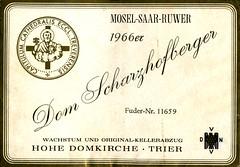 1966 - Dom Scharzhofberger (Saar) (roger4336) Tags: church germany deutschland cathedral wine dom 1966 bishop trier mosel wein saar rheinlandpfalz moselle wiltingen hohedomkirche scharzhofberger
