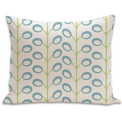 Bud Organic Pillow in Surf, Lime, and Natural 15x18 (PURE Inspired Design) Tags: customfurniture organicfabric ecofriendlyfurniture woolrugs