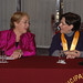 UN Women Executive Director Michelle Bachelet speaks with Lima's Mayor Susana Villarán before before being declared an honorary guest of the city on 16 October 2012