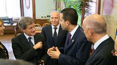 Providence Mayor Angel Taveras meets with Roman Mayor Gianni Alemmano