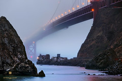 Prelude (louie imaging) Tags: sf morning bridge light fog landscape lost dawn golden bay gate san francisco energy mood time invisible magic foggy jazz hidden area land local moment timeless interpret vibe