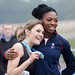 Helen Ward, Winner of Shock Absorber Women Only 10K with Margaret Adeoye - Richmond Park October 2012