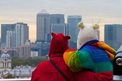 (davidkhardman) Tags: street urban london cityscape greenwich hats ears canarywharf canonefs18200mmf3556is