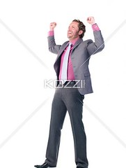 happy young doctor with hands raised (peoplebeck2012) Tags: portrait man male standing photography fulllength professional suit indoors whitebackground achievement doctor medicine studioshot youngadult success adultsonly oneperson caucasian mouthopen armsup occupation expertise ecstatic welldressed successful exited handsraised colorimage lookingatcamera oneyoungmanonly onemanonly generalpractitioner healthcareandmedicine professionaloccupation healthcareworker 2529years medicaloccupation