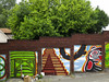 Attached Garages, Central District, Seattle (Blinking Charlie) Tags: seattle bear usa mural colorful eagle hill angkorwat condor hillside 2012 garagedoor centraldistrict centralarea mayanpyramid canonpowershots100 northwestcoaststyle blinkingcharlie efirstreet