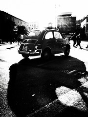 Rome (Yves Roy) Tags: street city shadow urban blackandwhite bw italy black rome roma contrast dark blackwhite raw moody 28mm fav20 explore rom yr piazzadelpopolo fav10 ricohgrd blackwhitephotos grdiii yvesroy yrphotography snapgrdiiiitrome