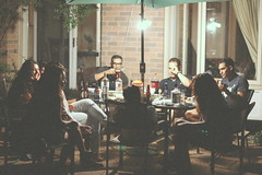 patio weather (ar'mita) Tags: travel blue friends summer people music toronto canada man streets art colors beauty face look fashion modern night dark table landscape fun happy photography design backyard faces style sunny clean patio drinks portraiture editorial around mates chill bold hangout gather