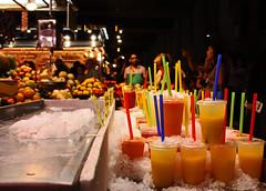 177 (Robi Jaffrey) Tags: barcelona fruit market drinks straws boqueria laboqueria fruitdrinks