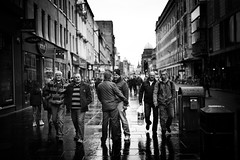 Charged (Explored) (stephen cosh) Tags: life street city people blackandwhite bw sepia mono scotland town glasgow candid streetphotography rangefinder reallife humancondition blackandwhitephotos 50mmsummilux blackwhitephotos leicam9 stephencosh leicammonochrom leicamm