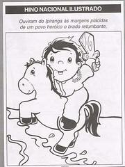 Hino nacional Ilustrado para colorir. (Atividades Educação Infantil) Tags: 7desetembro semanadapátria hinonacional datascomemorativas