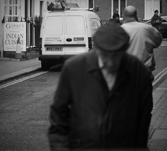 Man in cap (bucksbob) Tags: 2012 50mm amateur beginner best bestshot black blur blurred blurry bokeh britain british bucksbob bw candid composition contrast dark desolate dramatic dslr english england europe explore explored fall flickraward favourite gritty halloween grain grainy interesting journalism life light lines london mono monochrome motion movement new old noise pattern photo photography people photojournalism picoftheday picture reallife random retro shadow shotoftheday sign silhouette sony street spooky streetphotography texture today uk urban urbanite unusual vintage white yesterday bizarre