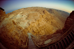 CANYON STAIRWAY | MASADA (what_IF?) Tags: israel nikon fisheye 105mm d40