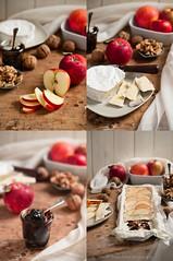 slices.... (Laura Adani) Tags: stilllife apple fruit cheese recipe walnut nobody indoors camembertcheese photofood appleandpeersyrup