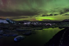 Lights At The Lagoon (Kristinn R.) Tags: sky clouds stars iceland nikon lagoon icebergs jkulsrln d3x nikonphotography breiamerkursandur kristinnr