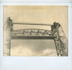 Rotterdam: Hefbrug (vertical-lift bridge) (SuperErnie) Tags: polaroid rotterdam polaroidspectra spectra ro impossible dehef hefbrug theimpossibleproject pz600silvershade