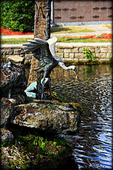The Heron and the Frog (Chris C. Crowley) Tags: water cemetery pond rocks scenic statues graves statuary sculptures reflectionpool chriscrowley celticsong22 theheronandthefrog