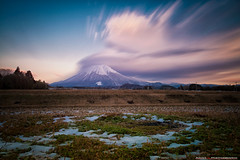 Daisen (Tottori Pref, Japan (ADAM L Photography) Tags: longexposure winter snow mountains japan clouds landscape nikon mt le nd tottori snowcappedmountain snowcappedpeak nikond800