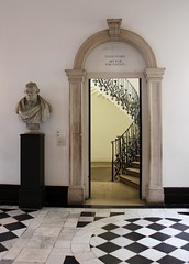 The Great Hall & 'Tulip' Stairs: Queen's House (curry15) Tags: london blackwhite greenwich staircase cube queenshouse inigojones palladian marblefloor se10 gradeilisted tulipstairs nicholasstone romneyroad
