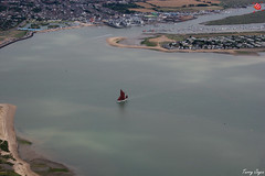 Thames Sailing Barge, Brightlingsea Reach (Essex Explorer) Tags: aerial essex pointclear brightlingsea thamessailingbarge eastmersea rivercolne img7636 brightlingseareach
