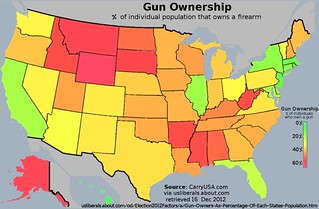 US Map of Gun Ownership Rates
