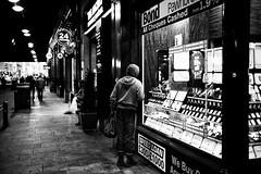 Pawn Star (stephen cosh) Tags: life street city people blackandwhite bw sepia mono scotland town glasgow candid streetphotography rangefinder ayr reallife humancondition blackandwhitephotos 50mmsummilux blackwhitephotos leicam9 stephencosh 52week2 leicammonochrom leicamm