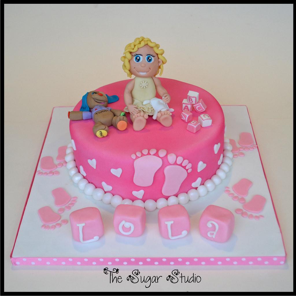 premium selection e1fde 83ca1 Baptism cake for baby girl with handmade figure (The Sugar Studio ni) Tags