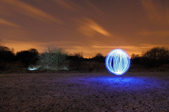 Light Orb in the Snow (blacksplat) Tags: light snow painting long exposure orb