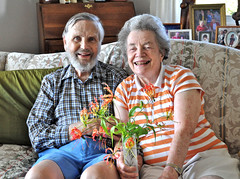 GLORIOSA (3/5) (Darkroom Daze) Tags: people plant flower pam bermuda owen spanishpoint ourfamily poisonousplant gloriosasuperba flamelily pembrokeparish clamberup shawwood