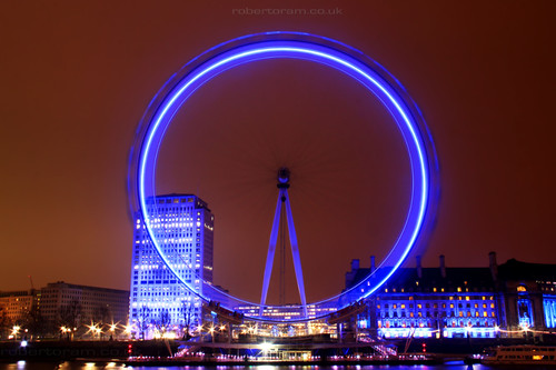 London Eye Blue