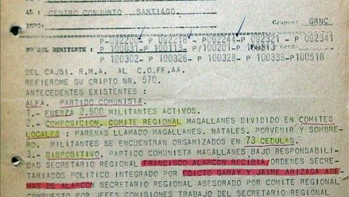 el Partido Comunista de Chile estaba tan infiltrado como siempre