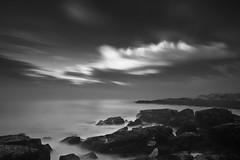 Windswept (loomstone) Tags: longexposure bw seascape mono massachusetts shoreline gloucester seashore seacoast bassrocks bigstopper