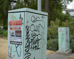 Pillar of Society (martyr_67) Tags: black nikon voigtlander rally pillar australia melbourne f2 40mm lecture electrical society panther marxism d800 ultron slii